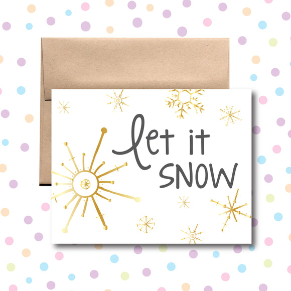 GC0154 Let It Snow Card