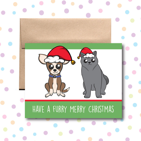 GC0159 Furry Merry Christmas Card