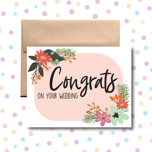 GC0162 Congrats on Your Wedding Card