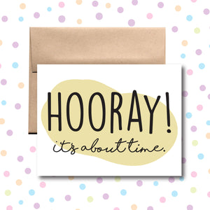GC0167 Hooray! It's About Time Card