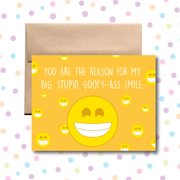 GC0173 Goofy-Ass Smile Card