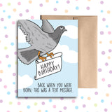 GC0194 Pigeon Letter Carrier Card
