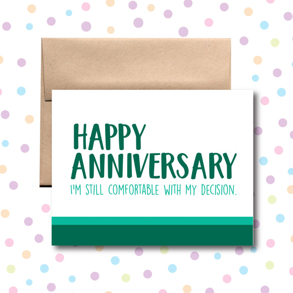 GC0206 Anniversary Decision Card