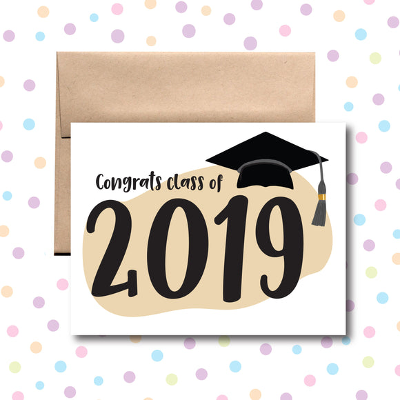 GC0210 Congrats Class of 2019 Card