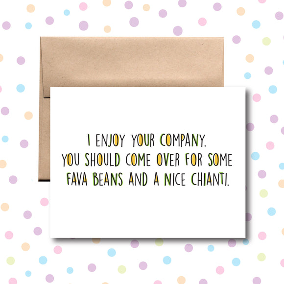 GC067 I Enjoy Your Company Card