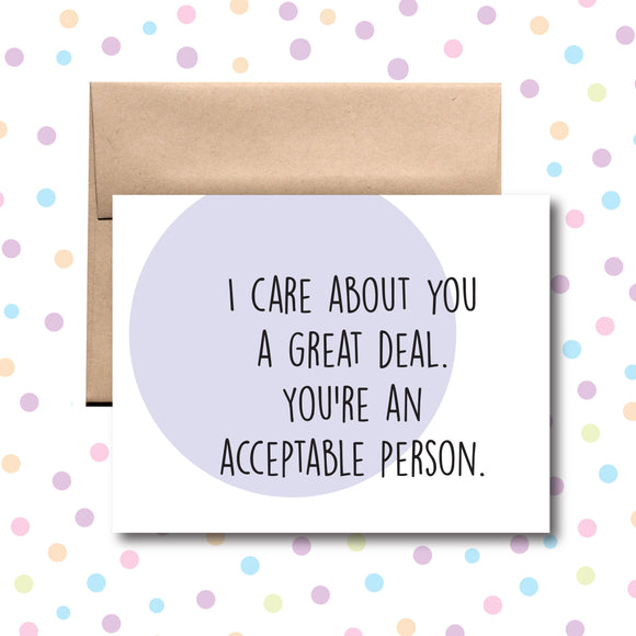GC080 I Care About You Card