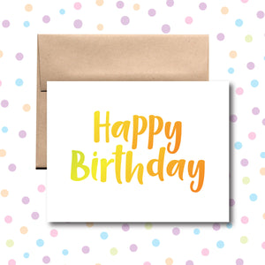 GC088 Happy Birthday Card