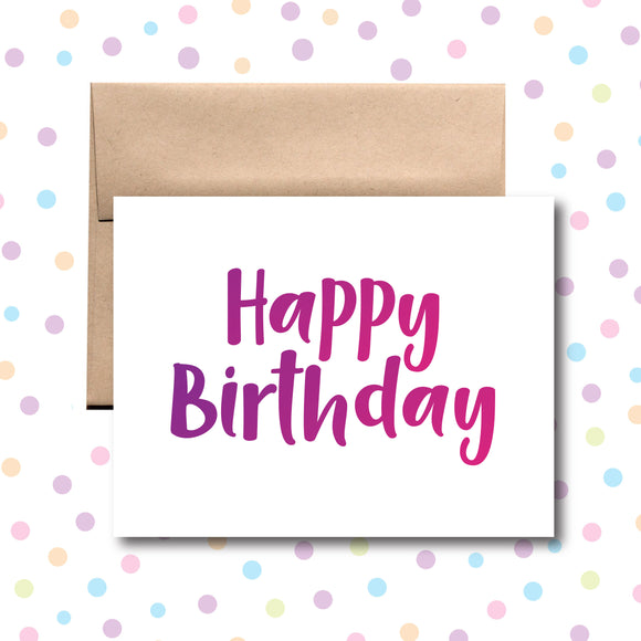 GC090 Happy Birthday Card