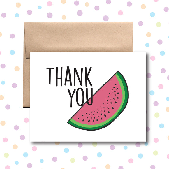 GC093 Watermelon Thank You Card