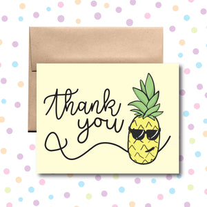 GC094 Pineapple Thank You Card