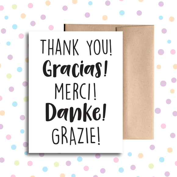 GC096 Thank You in 5 Languages Card