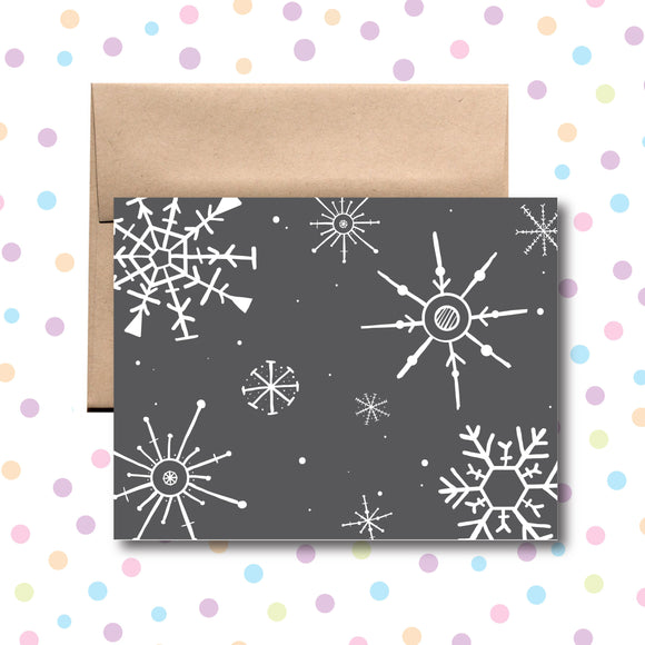 GC0153 Snowflakes Card
