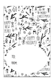 GT010 Black and White Christmas Gift Tags