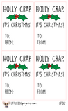GT012 Holly Crap, It's Christmas Gift Tags