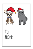 GT013 Cat and Dog Christmas Gift Tags