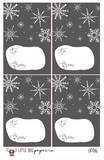 GT016 Snowflakes Gift Tags