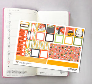 HOBOWK052 // Hobonichi Weeks Planner Sticker Kit // Sushi