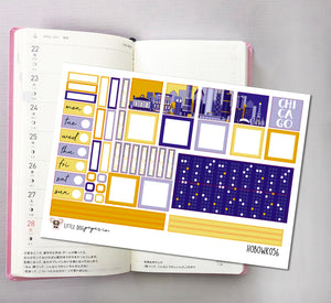 HOBOWK056 // Hobonichi Weeks Planner Sticker Kit // Chicago