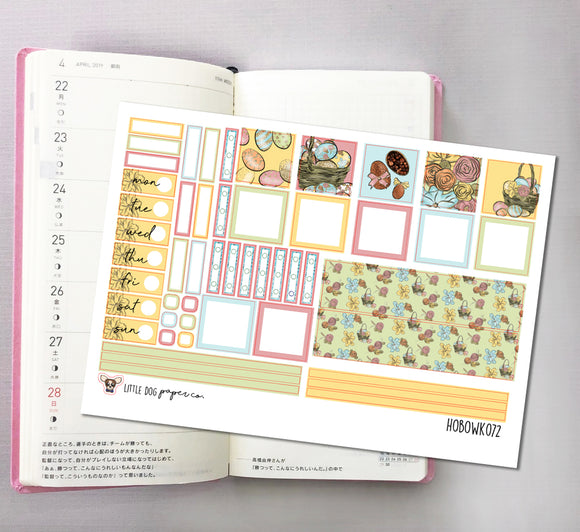 HOBOWK072 // Hobonichi Weeks Planner Sticker Kit // Easter