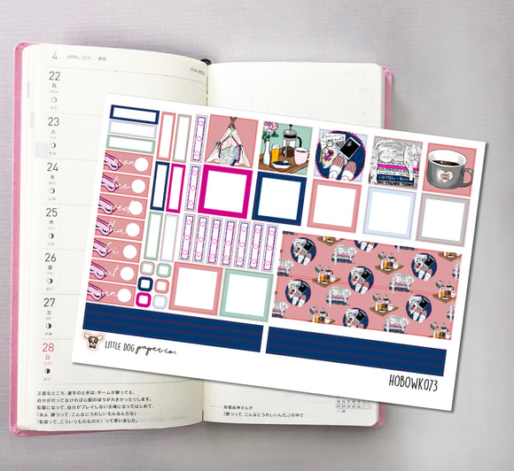 HOBOWK073 // Hobonichi Weeks Planner Sticker Kit // Chill & Relax