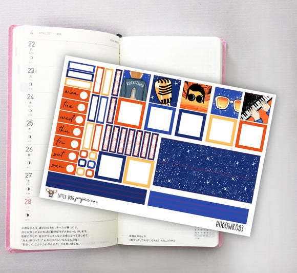 HOBOWK083 // Hobonichi Weeks Planner Sticker Kit // Rocket Man