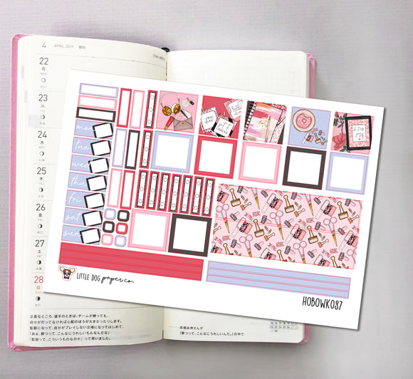HOBOWK087 // Hobonichi Weeks Planner Sticker Kit // Time to Plan