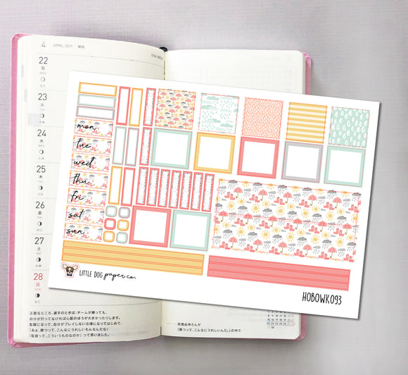 HOBOWK093 // Hobonichi Weeks Planner Sticker Kit // Sweet Umbrella