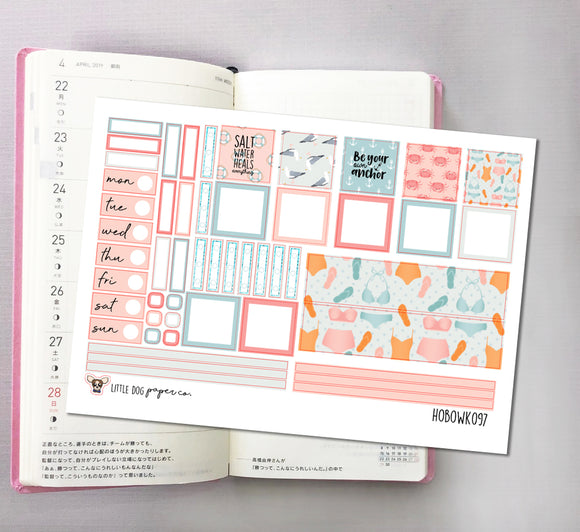HOBOWK097 // Hobonichi Weeks Planner Sticker Kit // Salt Water
