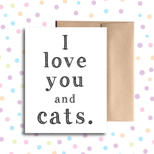 GC014 I Love You and Cats Card