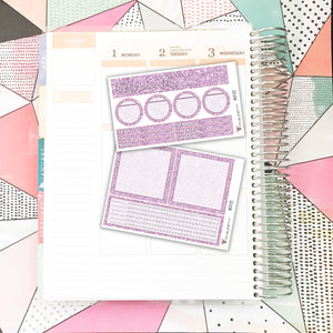 NOTE05 // Notes Pages Kit // Lavender Glitter