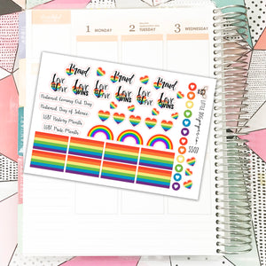 SS07 // Gay Pride // Planner Stickers