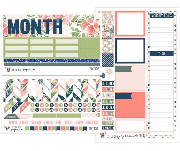 MNTH017 // Monthly Kit // Watercolor Floral