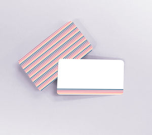 Tiny Notes // Multicolored Stripes