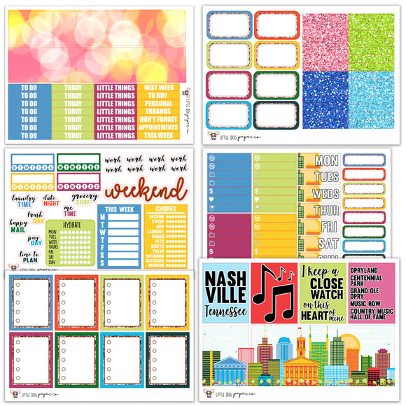 WK06 // I Heart Nashville Weekly Kit // Planner Stickers