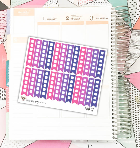 PINK02 // Checklist Flags // Pink