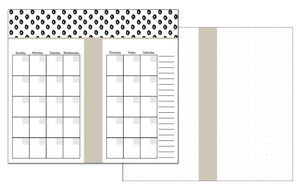 PERSONAL Size Inserts // Three Month Bundle // Customizable Monthly Dot Grid Planner