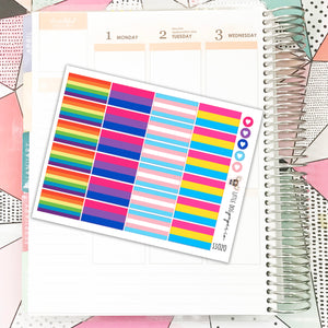 SSO20 // Pride Flags // Planner Stickers