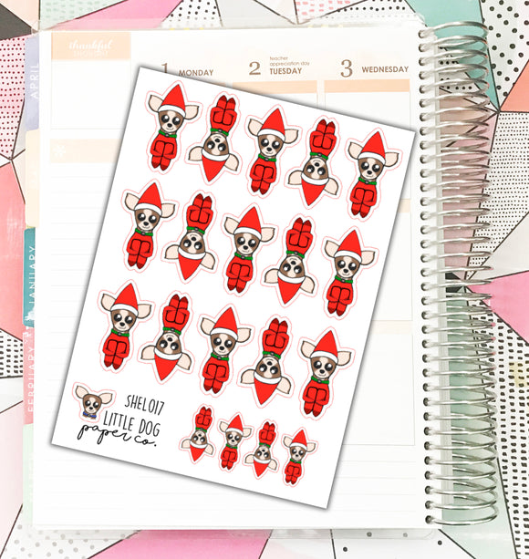 SHEL017 // Sheldon On A Shelf // Planner Stickers
