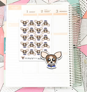 SHEL018 // Sheldon Has Braces // Planner Stickers