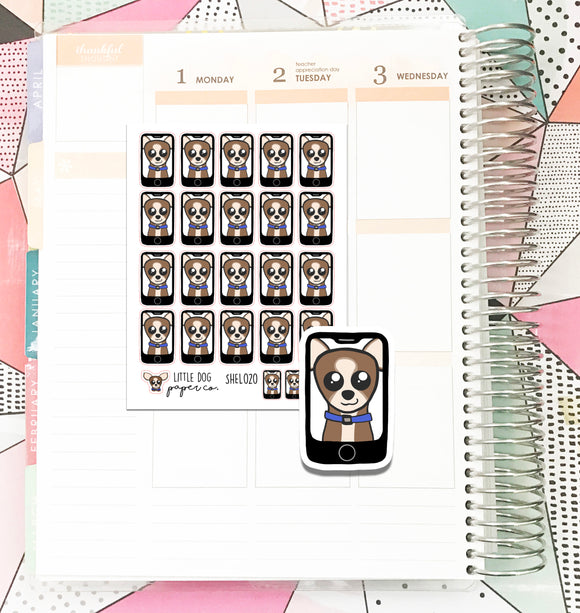 SHEL020 // Sheldon Facetimes // Planner Stickers