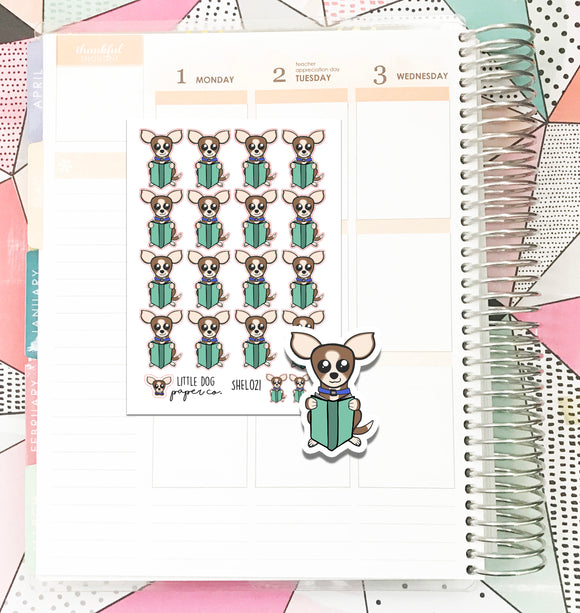 SHEL021 // Sheldon Reads // Planner Stickers