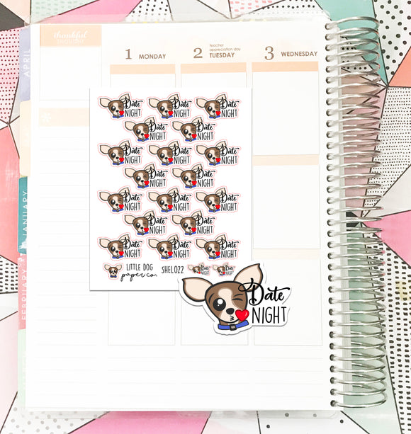 SHEL022 // Sheldon Date Night // Planner Stickers