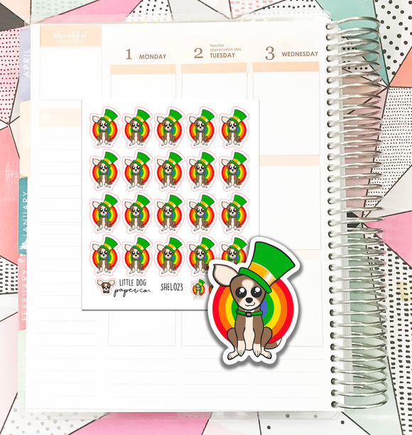 SHEL023 // Leprechaun Sheldon // Planner Stickers