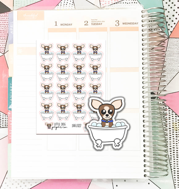 SHEL027 // Bath Time Sheldon // Planner Stickers
