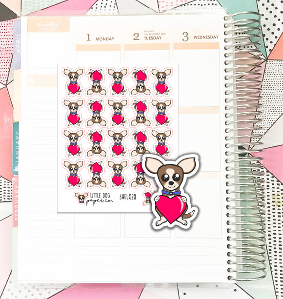 SHEL028 // Love Sheldon // Planner Stickers