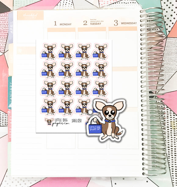 SHEL031 // Shopping Sheldon // Planner Stickers