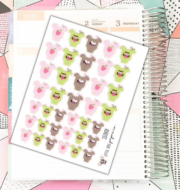 SS0101 // Girl Baby Stickers // Planner Stickers