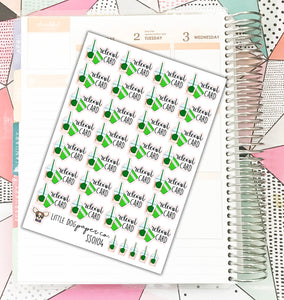 SS0104 // Reload Coffee Card // Planner Stickers