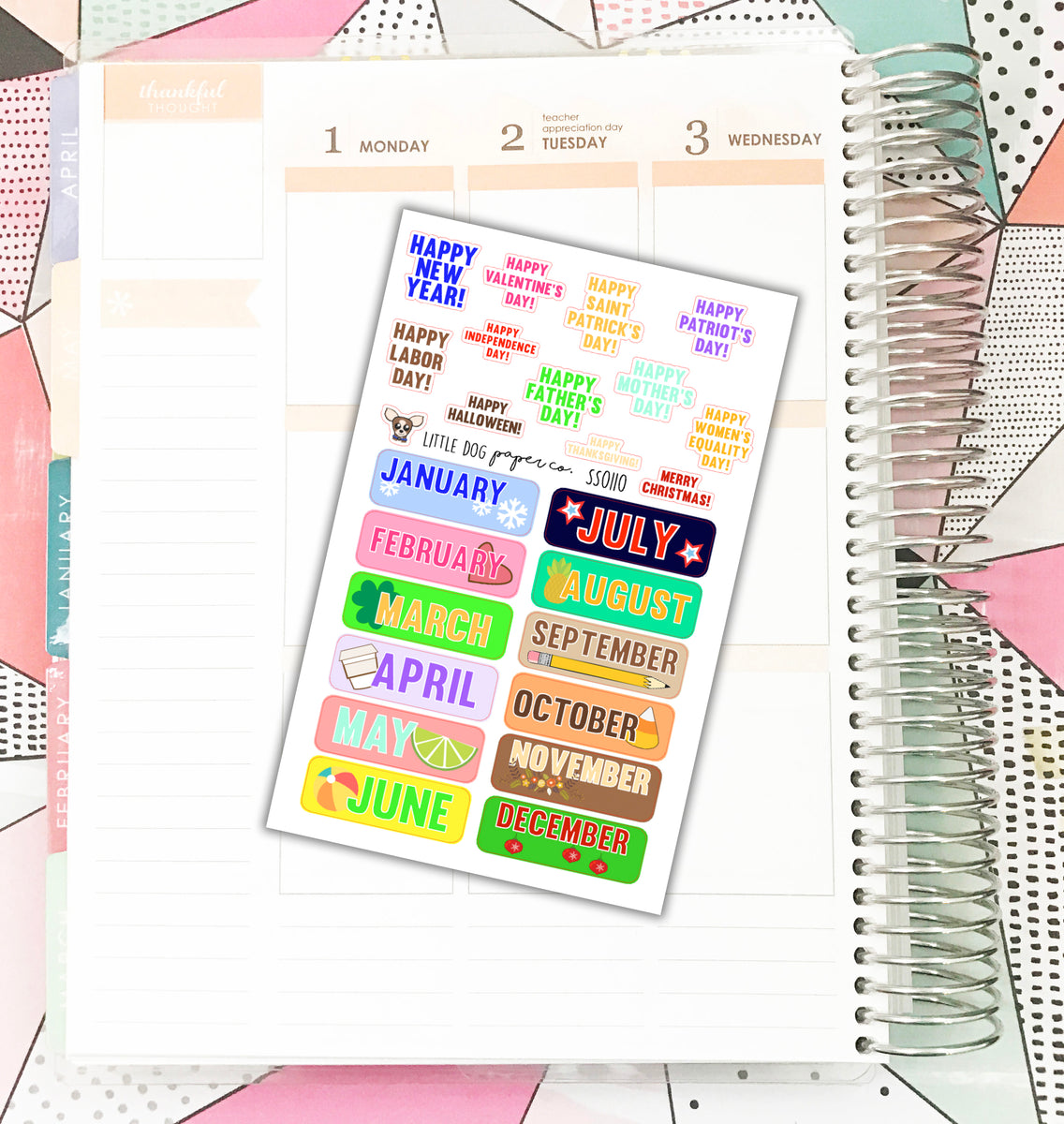 Ss0110 personal planner stickers made for personal planner calen little dog paper co