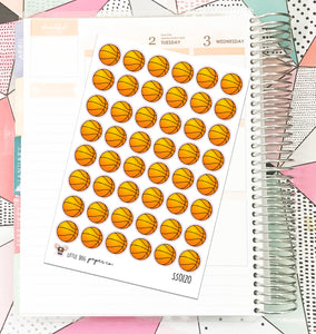 SS0120 // Basketballs // Planner Stickers